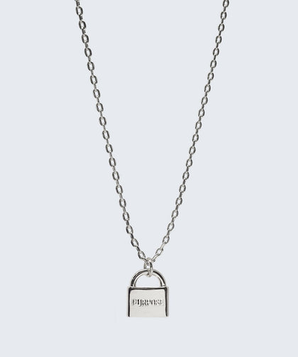 Mini Padlock Necklace Necklaces The Giving Keys PURPOSE Silver