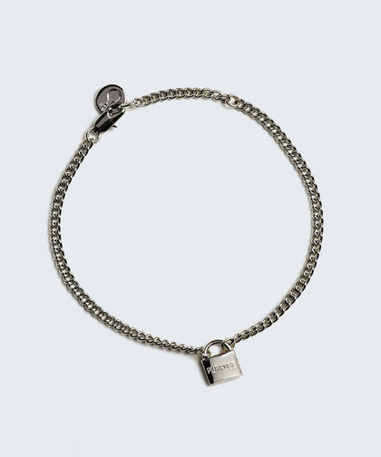 PURPOSE- Mini Padlock Bracelet Bracelets The Giving Keys PURPOSE Silver
