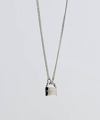 PURPOSE- Mini Padlock Necklace Necklaces The Giving Keys PURPOSE Silver