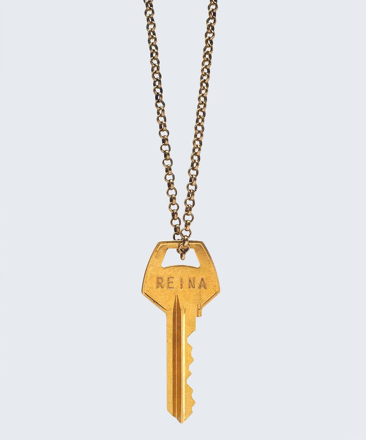 WORDAFUL Classic Key Necklace Necklaces The Giving Keys REINA GOLD