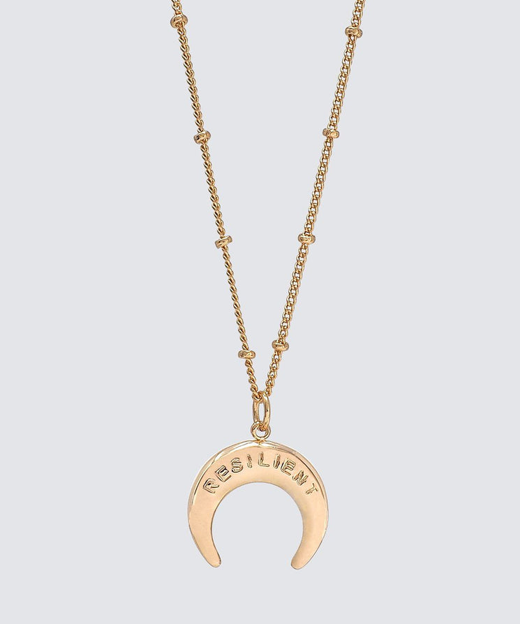 RESILIENT Horn Necklace Necklaces The Giving Keys GOLD RESILIENT