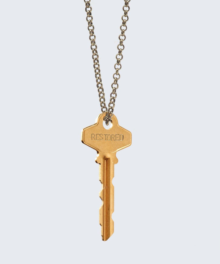 FAITH Collection Classic Key Necklace Necklaces The Giving Keys RESTORED Antique Gold