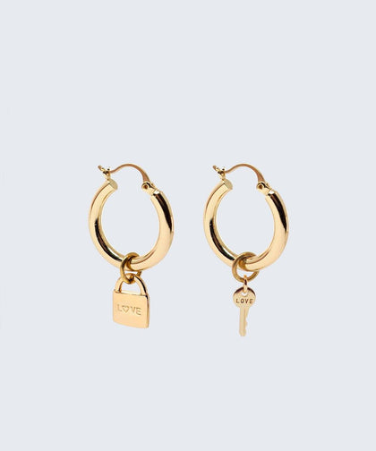 Riji Earrings Earrings The Giving Keys LOVE + LOVE Gold