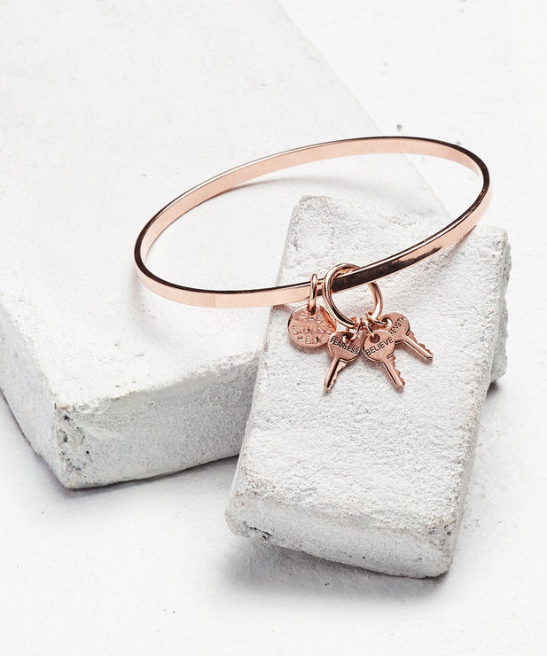 Rose Gold Bangle Bracelet