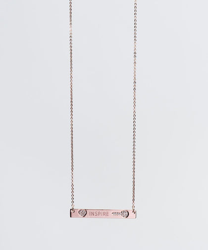 Mother's Day Pave Bar Necklace Necklaces The Giving Keys INSPIRE ROSE GOLD