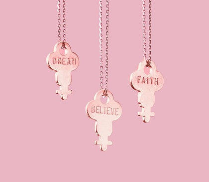 Dainty Rose Gold Key Necklace Necklaces The Giving Keys | Lifestyle