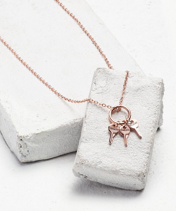 Rose Gold Key Ring Necklace