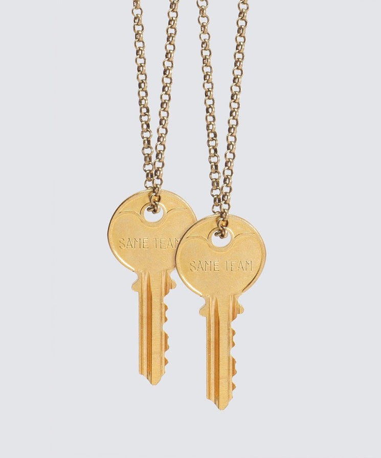 SAME TEAM Classic Key Necklace Set Necklaces The Giving Keys SAME TEAM GOLD