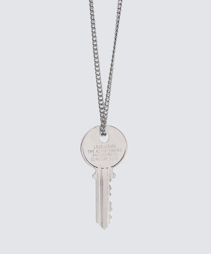 LOVE DEFINITION Classic Key Necklace Necklaces The Giving Keys LOVE DEFINITION SILVER