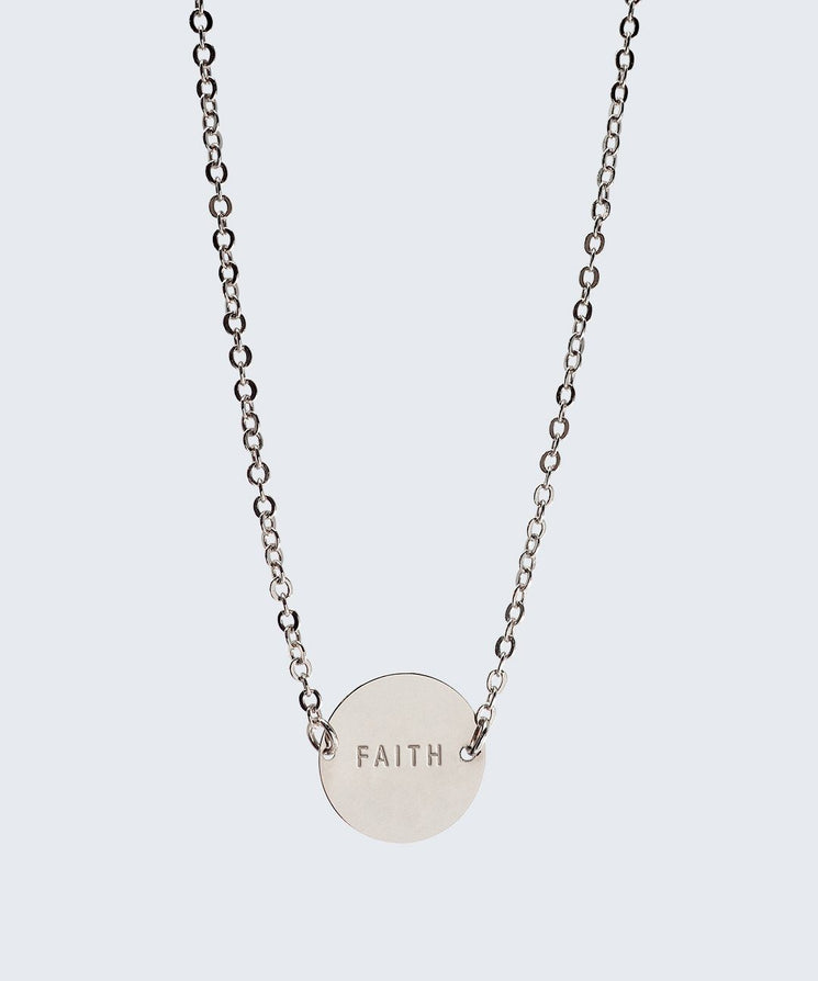 Never-Ending Large Disc Necklace Necklaces The Giving Keys FAITH SILVER