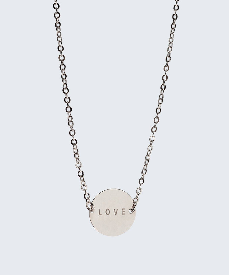 Never-Ending Large Disc Necklace Necklaces The Giving Keys LOVE SILVER