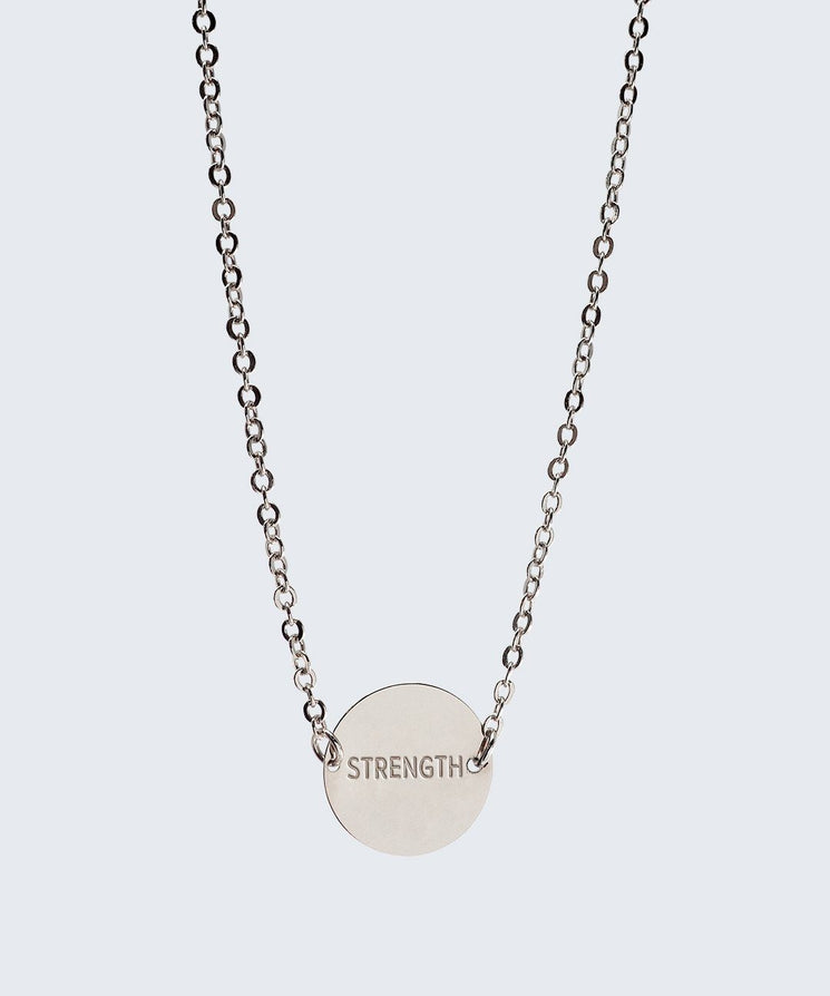 Never-Ending Large Disc Necklace Necklaces The Giving Keys STRENGTH SILVER