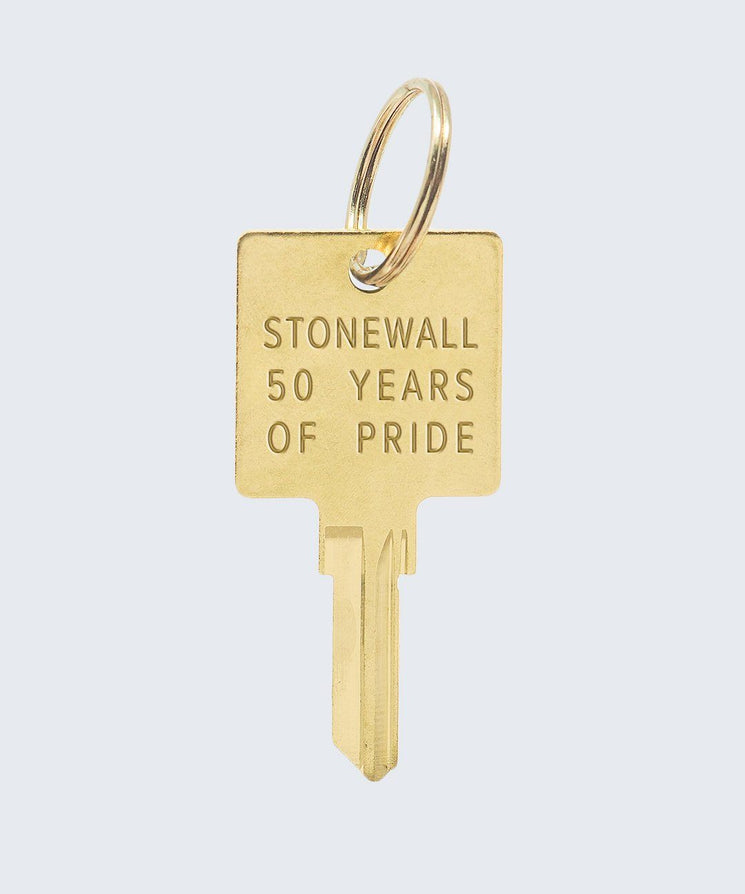 PRIDE Original Keychain Key Chain The Giving Keys STONEWALL 50 Gold