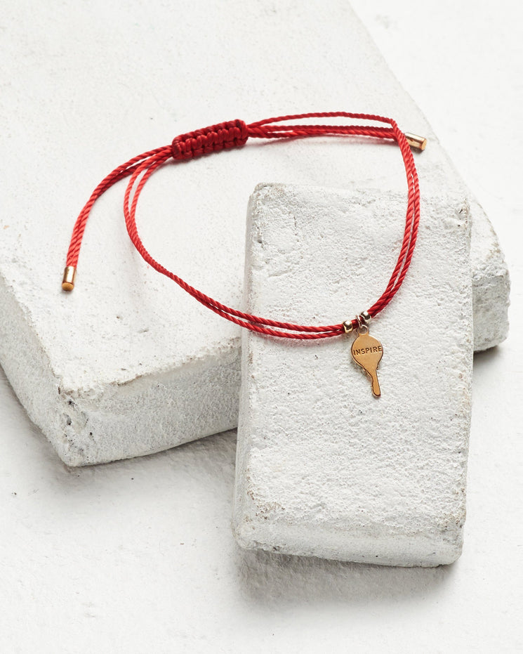 Gold Key Color Strand Bracelet Bracelets The Giving Keys Inspire Red