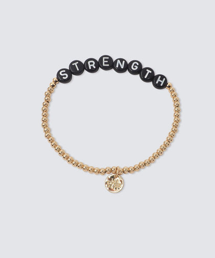STRENGTH Beaded Bracelet Bracelets The Giving Keys GOLD