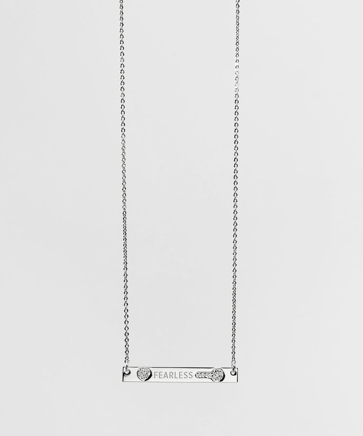 Mother's Day Pave Bar Necklace Necklaces The Giving Keys FEARLESS Silver