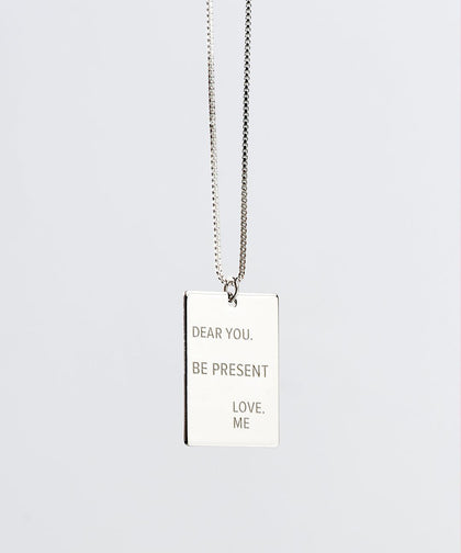 Note to Self Necklace BE PRESENT Necklaces The Giving Keys Silver
