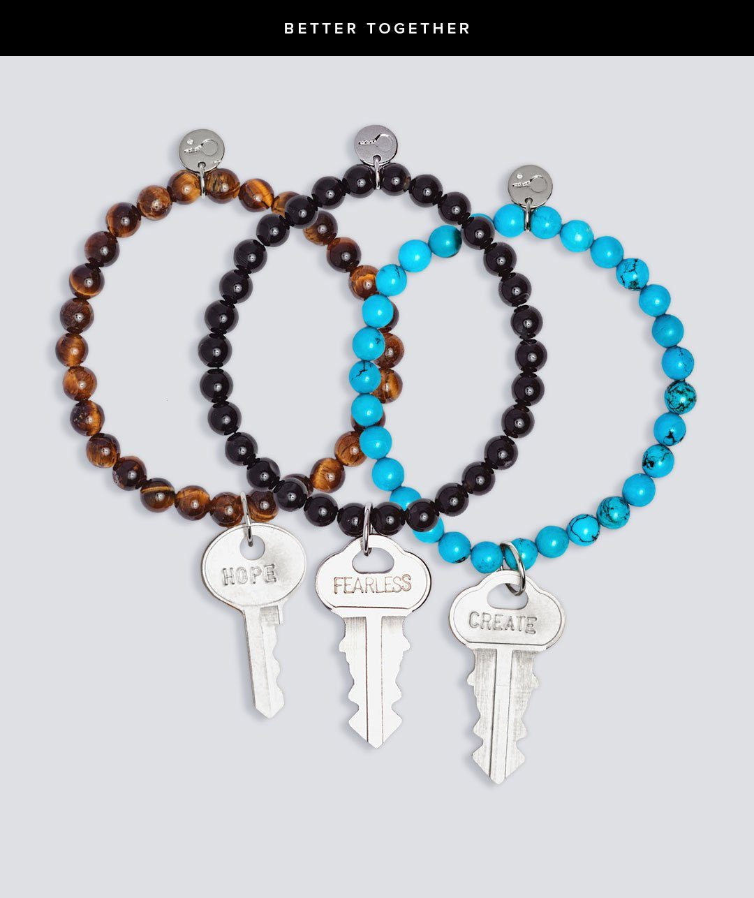 MEDITATION BEAD KEY BRACELET BUNDLE Bracelets The Giving Keys