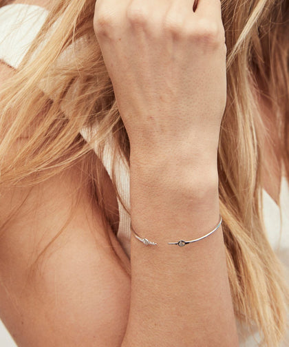 Silver Wrapped Mini Key Bangle Bracelets The Giving Keys | Lifestyle
