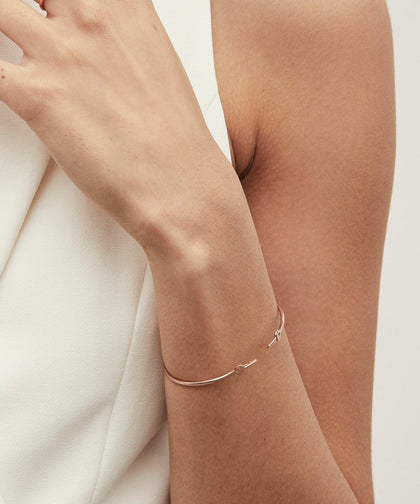 Rose Gold Wrapped Mini Key Bangle Bracelets The Giving Keys