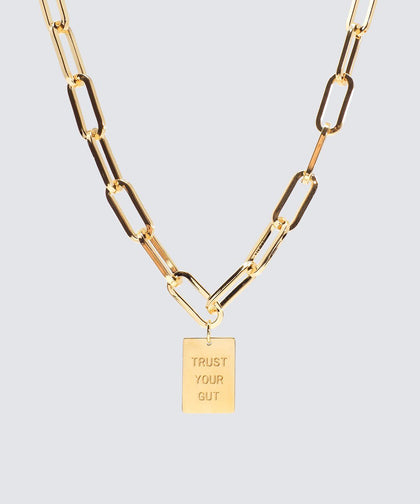 Trust Your Gut Capri Pendant Necklace Necklaces The Giving Keys Trust Your Gut_GOLD