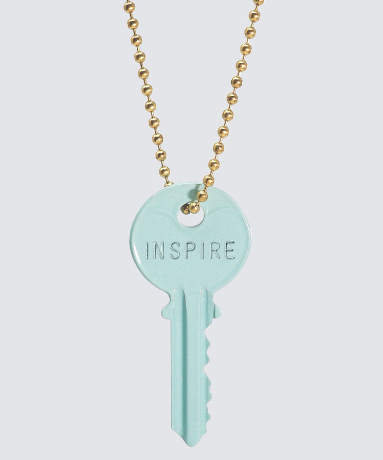 Pastel Green Classic Ball Chain Key Necklace Necklaces The Giving Keys