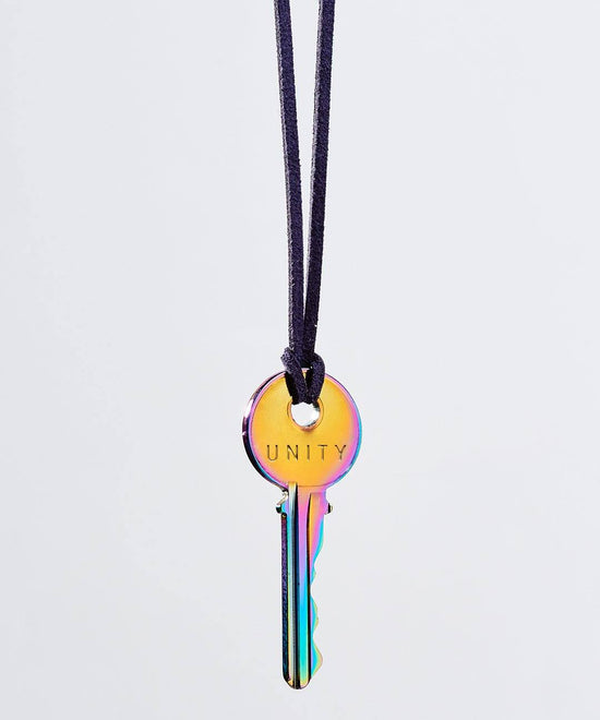 Pride Chrome Classic Key Cord Necklace Necklaces The Giving Keys UNITY Indigo