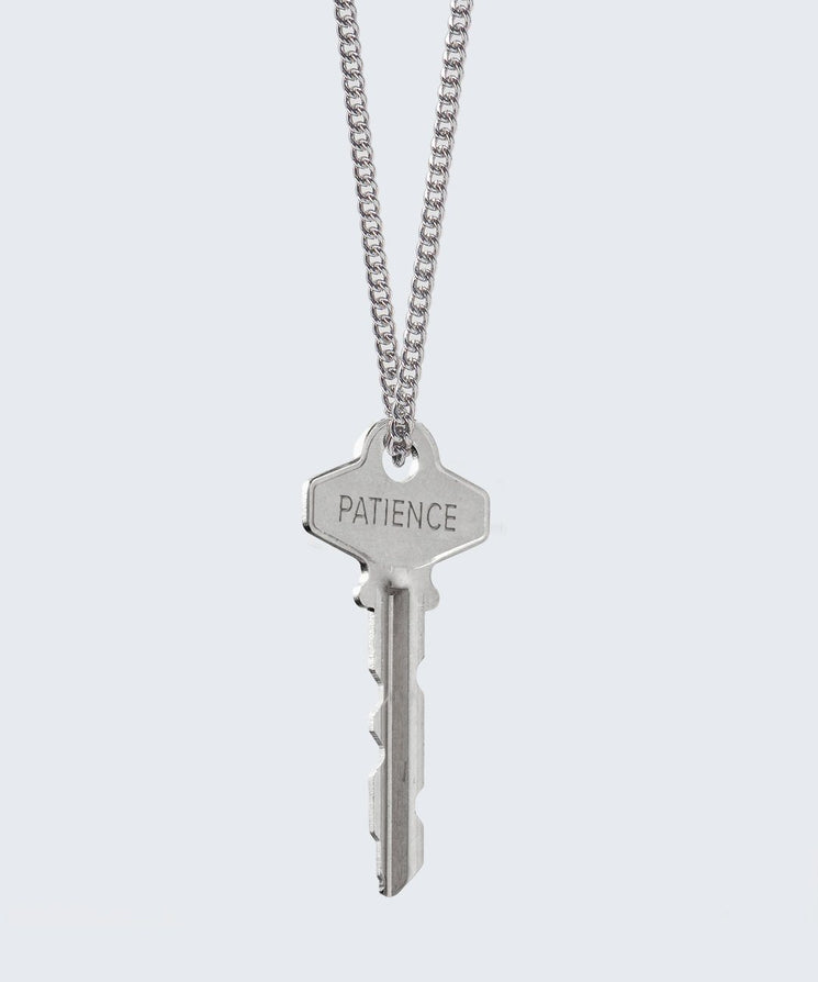 FAITH Collection Classic Key Necklace Necklaces The Giving Keys PATIENCE Silver