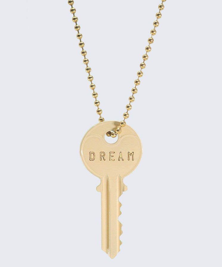 Vanilla Latte Classic Ball Chain Necklace Necklaces The Giving Keys DREAM GOLD