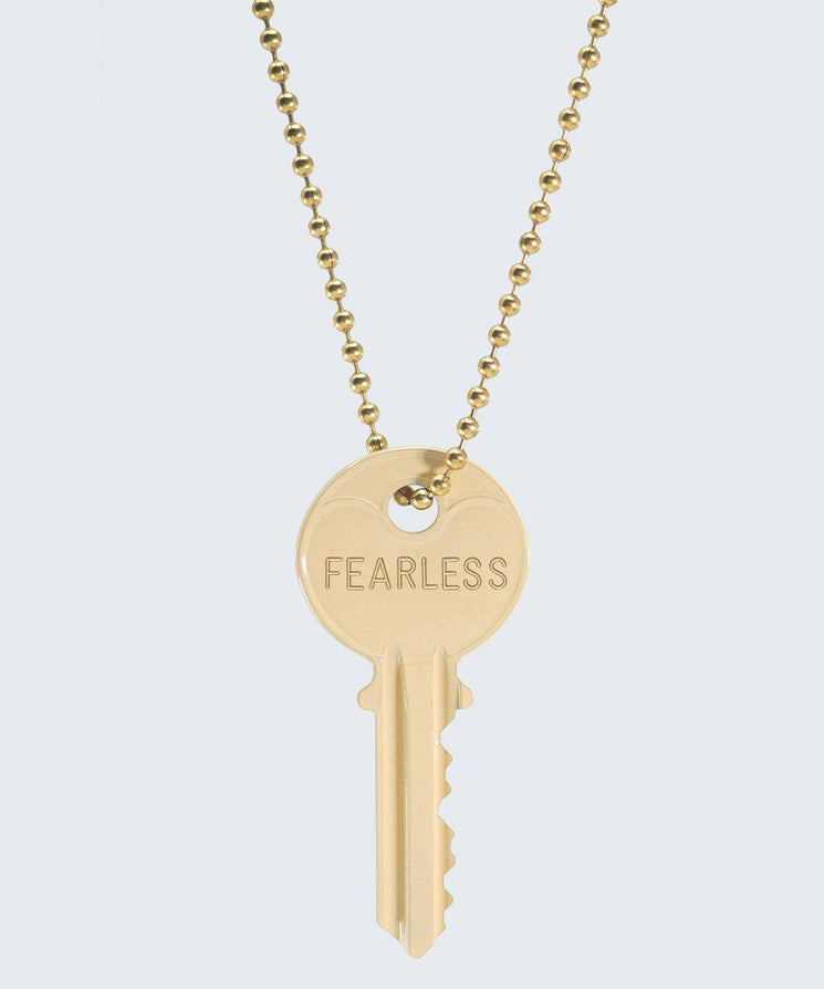 Vanilla Latte Classic Ball Chain Necklace Necklaces The Giving Keys FEARLESS GOLD