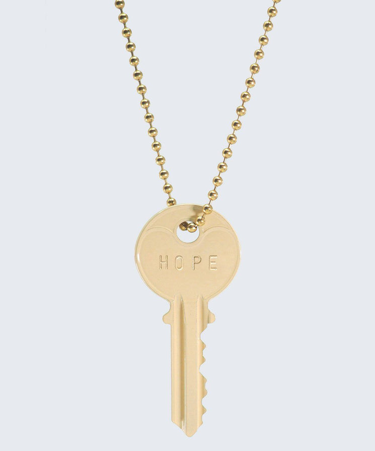 Vanilla Latte Classic Ball Chain Necklace Necklaces The Giving Keys HOPE GOLD