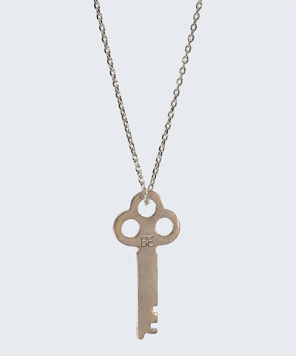 Vintage Inspired Key Necklace in BE The Giving Keys BE Silver