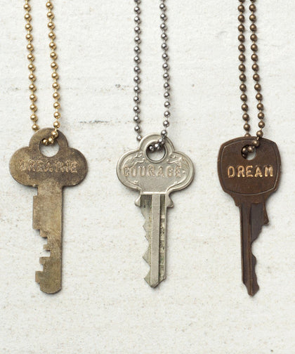 Vintage Mystery Key Necklace The Giving Keys | Lifestyle