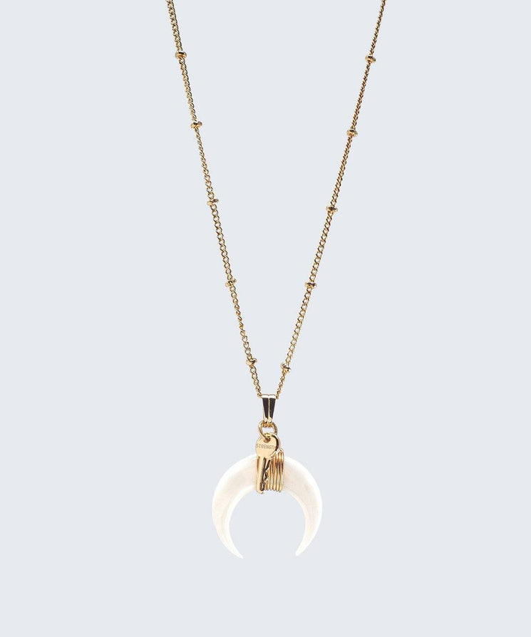Crescent Horn Necklace Necklaces The Giving Keys GOLD STRENGTH