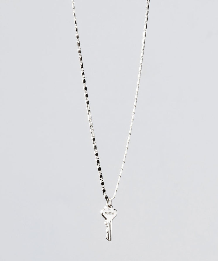 Petite Key Necklace Necklaces The Giving Keys WORTHY Silver