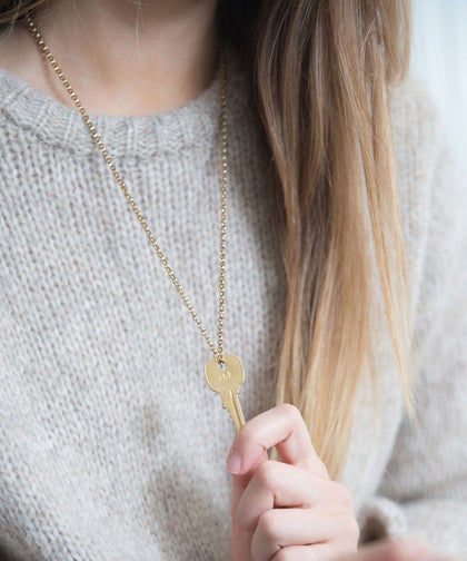 Family Book Circle Classic Key Necklace Necklaces The Giving Keys | Lifestyle