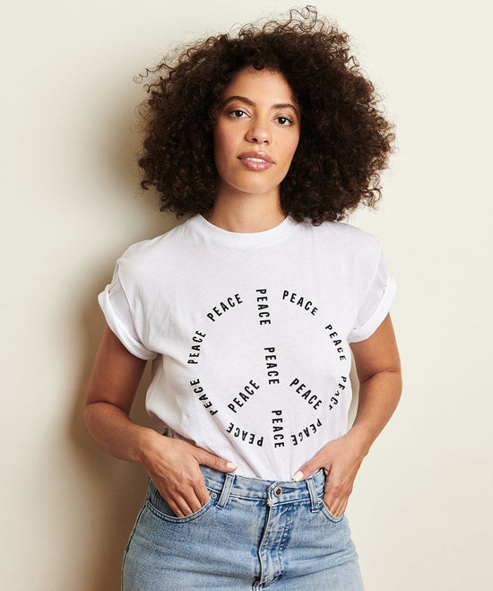 PEACE 100% Cotton Unisex Tee Shirt Apparel The Giving Keys X-SMALL
