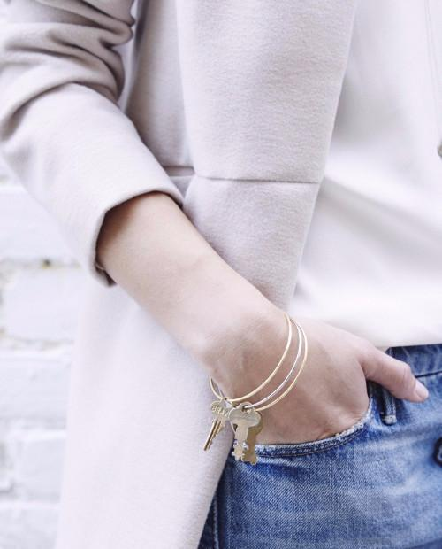 Dainty Key Bangle Bracelet Bracelets The Giving Keys | Lifestyle