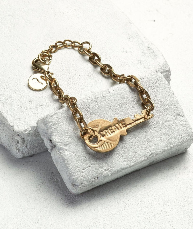 Never Ending Key Bracelet Bracelets The Giving Keys CUSTOM Antique Gold