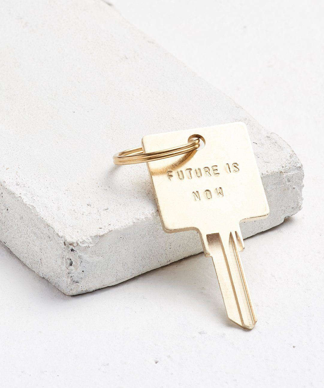 FUTURE IS... Gold Original Keychain Key Chain The Giving Keys NOW Gold