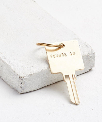FUTURE IS... Gold Original Keychain Key Chain The Giving Keys CUSTOM Gold