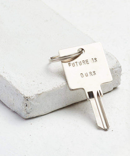 FUTURE IS... Silver Original Keychain Key Chain The Giving Keys OURS Silver