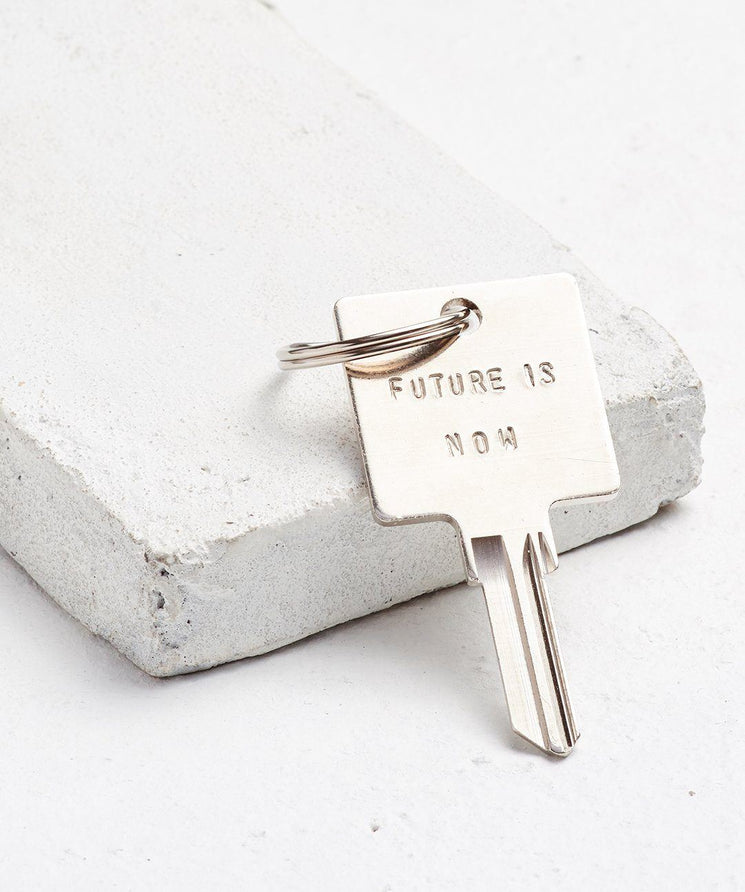 FUTURE IS... Silver Original Keychain Key Chain The Giving Keys NOW Silver