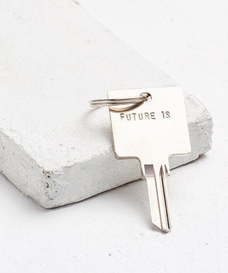 FUTURE IS... Silver Original Keychain Key Chain The Giving Keys CUSTOM Silver