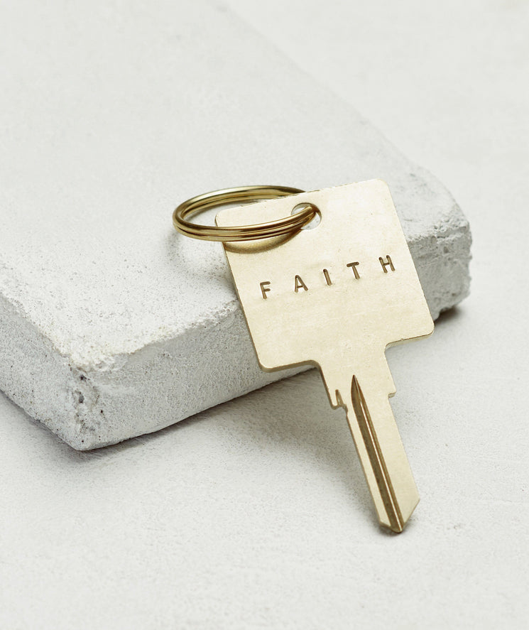 Original Keychain Key Chain The Giving Keys FAITH GOLD