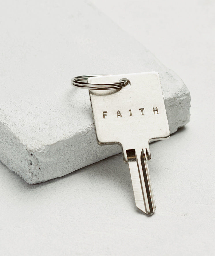 Original Keychain Key Chain The Giving Keys FAITH SILVER