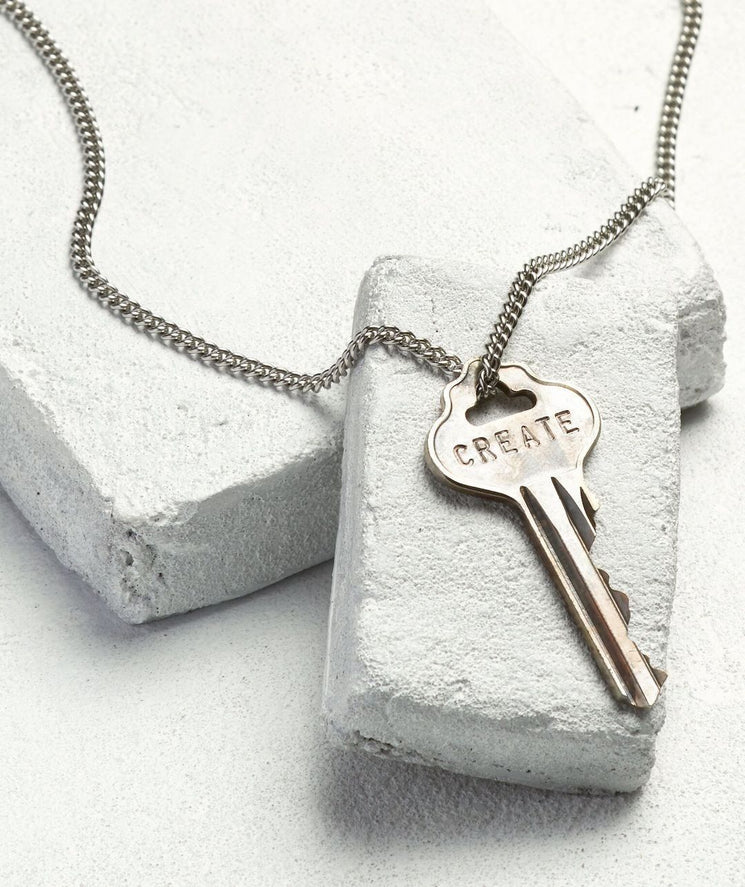 Classic Key Necklace Necklaces The Giving Keys CREATE Silver