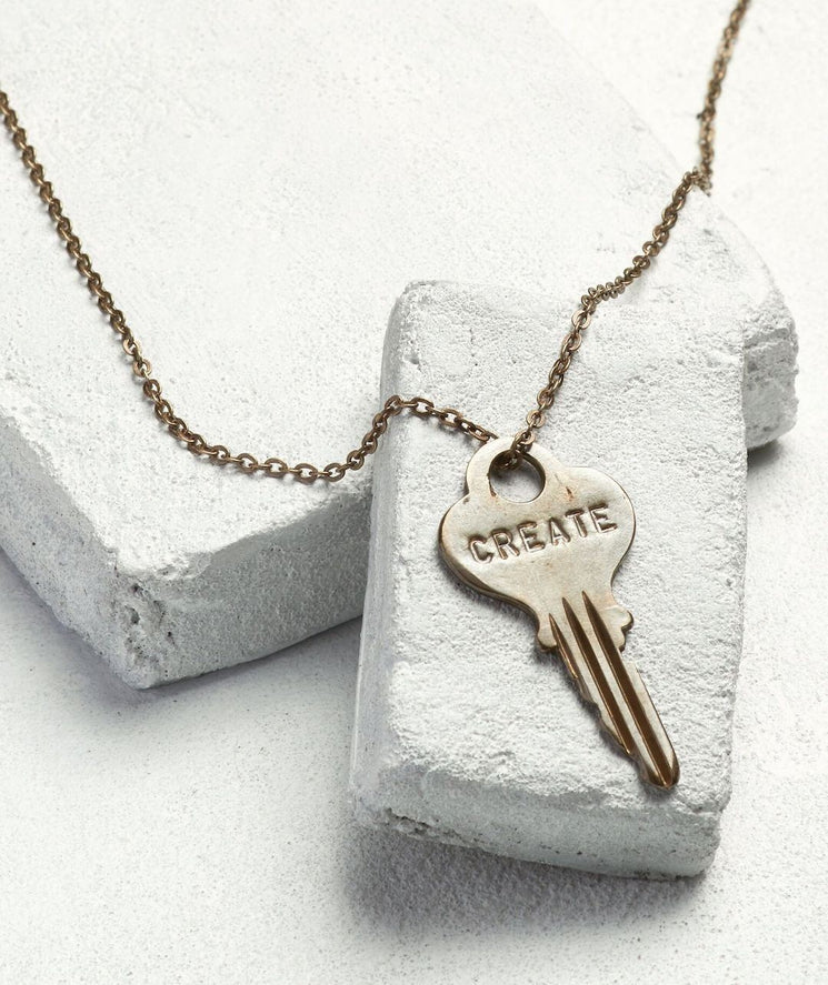 Classic Key Necklace Necklaces The Giving Keys CREATE Oxidized Brass