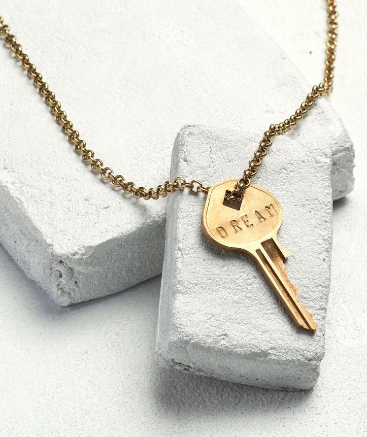 Classic Key Necklace Necklaces The Giving Keys DREAM Antique Gold