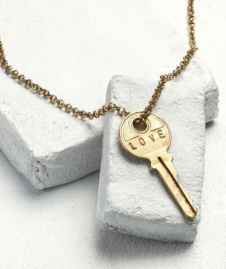 Classic Key Necklace Necklaces The Giving Keys LOVE Antique Gold